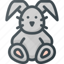 bunny, plush, toy icon