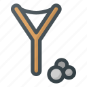 entertanment, kid, slingshot, toy icon