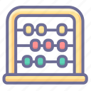 abacus, calculation, mathematics icon