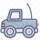 telecar, toy car, toy truck icon