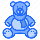 and, animals, baby, bear, kid, puppet, teddy icon