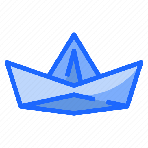 boat, paper, ships, travel, vacation icon