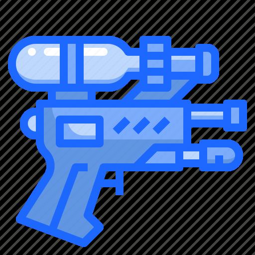 childhood, gun, shooting, water icon