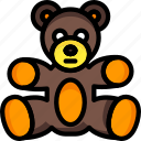 bear, cuddly, soft, teddy, toys icon