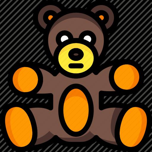 bear, cuddly, soft, teddy, toys icon
