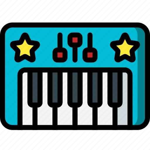 baby, childs, instrument, keyboard, piano, toys icon
