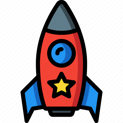 baby, childs, nasa, rocket, space, toys icon