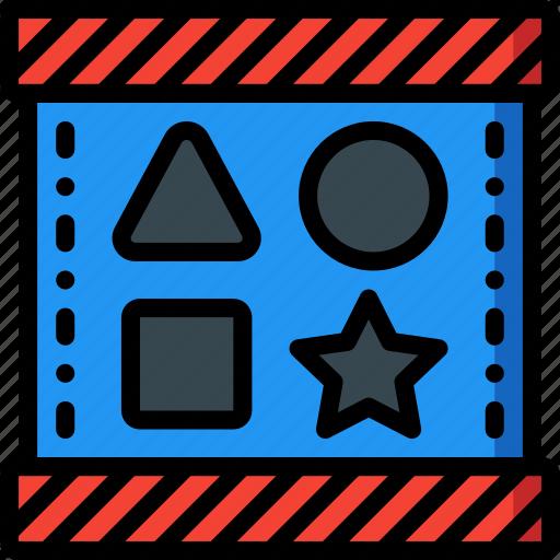 baby, blocks, childs, shape, sorter, toys icon