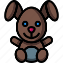 baby, bunny, cudly, rabbit, soft, stuffed, toys icon