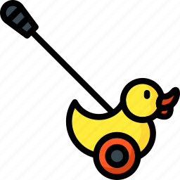 baby, duck, pushalong, toddler, toys icon