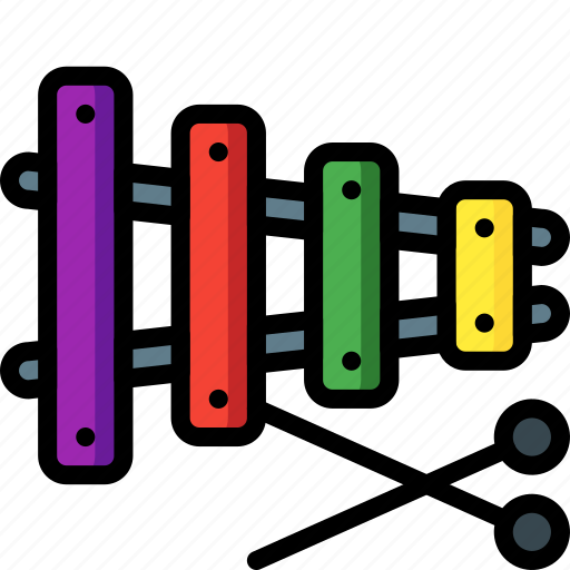 instrument, music, toys, xylophone icon