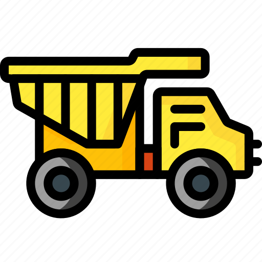baby, childs, construction, dump, toys, truck icon