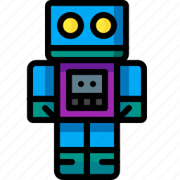 baby, childs, robot, toys icon