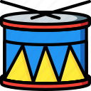 drum, instrument, music, musical, toys icon