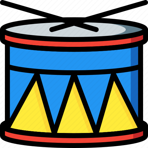 drum, instrument, music, musical, toys icon