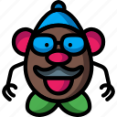 baby, head, infant, mr, potatoe, toys icon