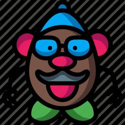 baby, head, infant, mr, potatoe, toys icon