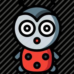 bug, cudly, lady, soft, toys icon