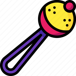 baby, infant, rattle, shaker, toys icon