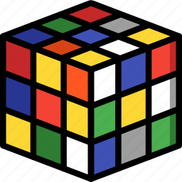 childs, cube, play, rubix, time, toys icon
