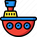 bath, boat, time, toys, water icon