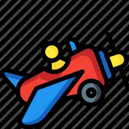 aeroplane, fly, plane, toys icon