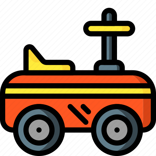 car, on, play, ride, toys icon