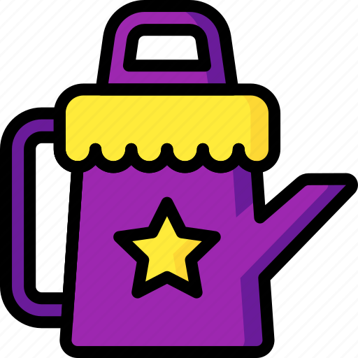 can, sprinkling, toys, watering icon