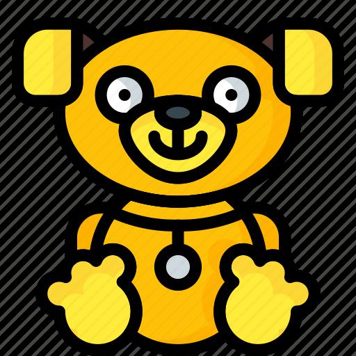 cuddly, puppy, soft, teddy, toys, ultra icon