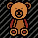 bear, children, fluffy, puppet, teddy