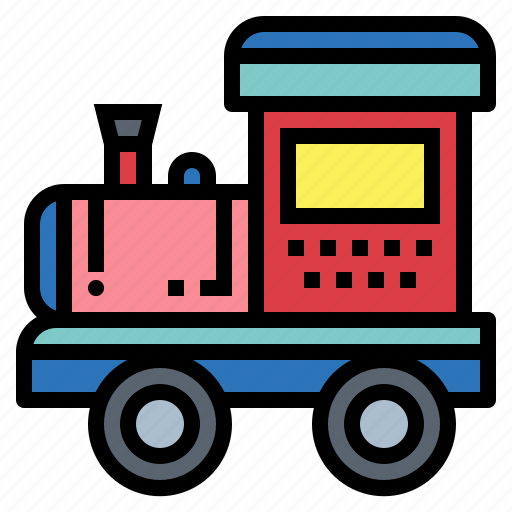 baby, kid, toy, train icon