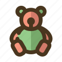 bear, children, cute, teddy, toy icon