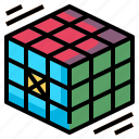 cube, education, freak, gaming, rubik icon