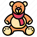 animals, baby, bear, kid, puppet, teddy icon