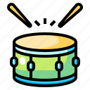 baby, christmas, drum, kid, musical, toy icon