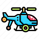 aircraft, fly, helicopter, plane, transportation icon