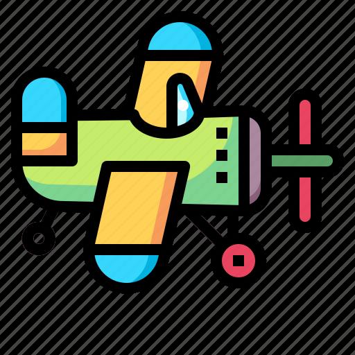 airplane, baby, kid, plane, toy, transportation icon