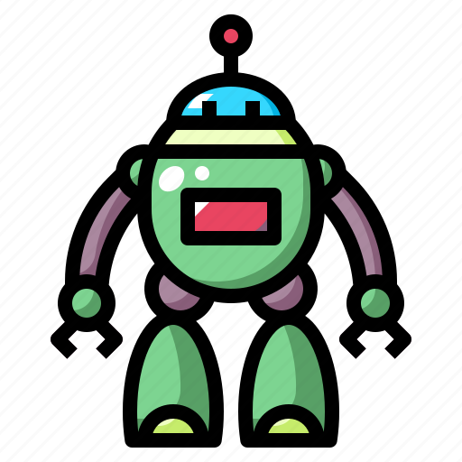 children, metal, robot, toy, toys icon