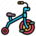 baby, children, kid, toy, transportation, tricycle icon