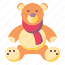 bear, animals, puppet, baby, kid, teddy