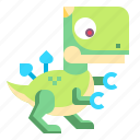 age, dinosaur, life, model, toy, wild icon