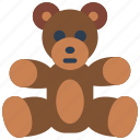 bear, childrens, cuddly, kids, teddy, toy, toys icon