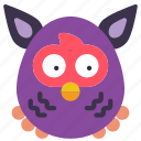 childrens, furby, kids, owl, teddy, toy, toys icon
