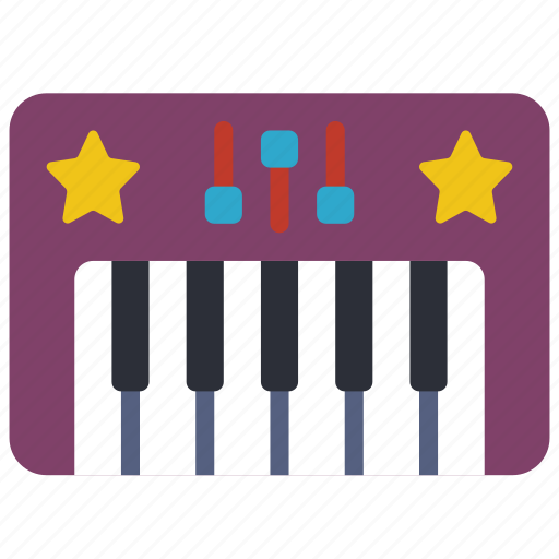 childrens, keyboard, kids, piano, toy, toys icon