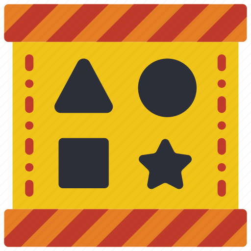 childrens, kids, puzzle, shape, sorter, toy, toys icon