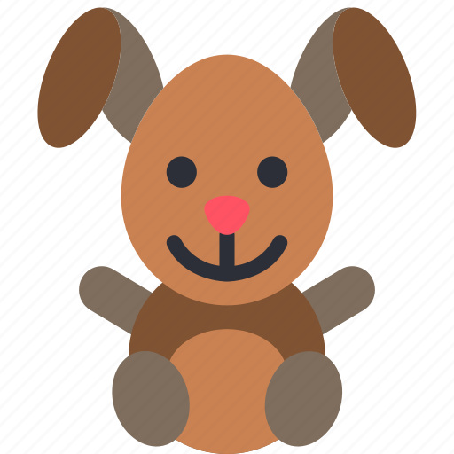 bunny, childrens, kids, rabbit, stuffed, toy, toys icon