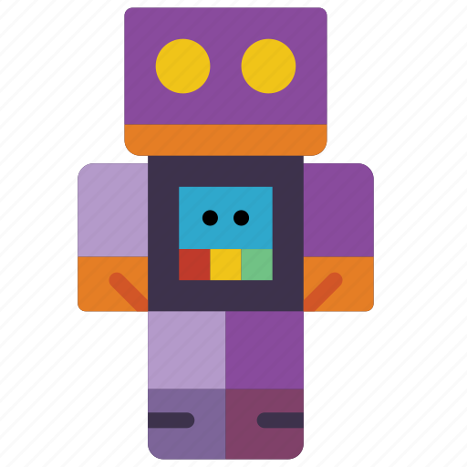 childrens, figure, kids, robot, toy, toys icon