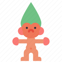 childrens, doll, kids, toy, toys, troll icon