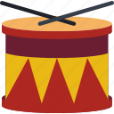 childrens, drum, drumkit, kids, toy, toys icon