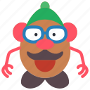 childrens, head, kids, mr, potato, toy, toys icon